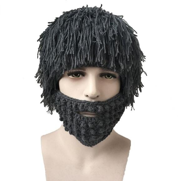 325217a7c0f Beard Hat Creative Knitted Mask